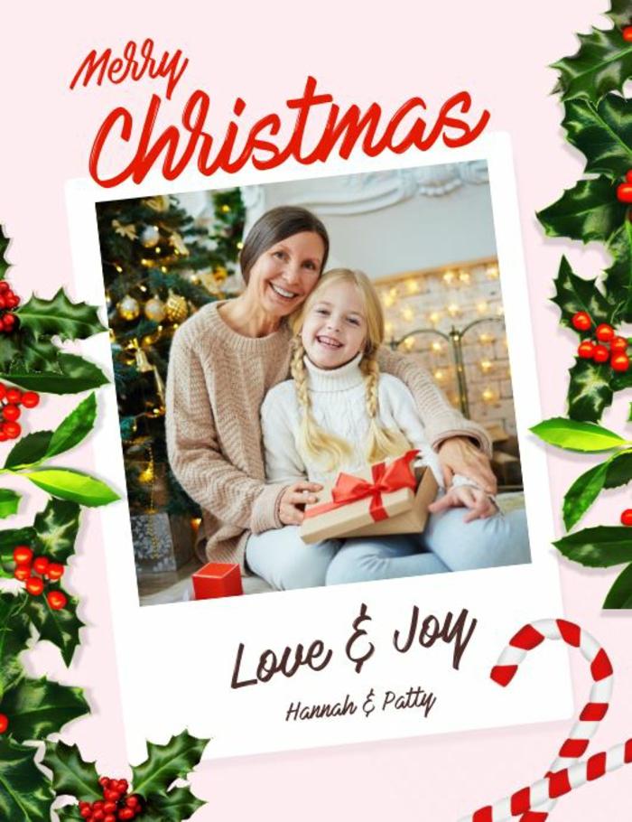 geburtstagskarte gestalten mit foto weihnachtkarte schreiben