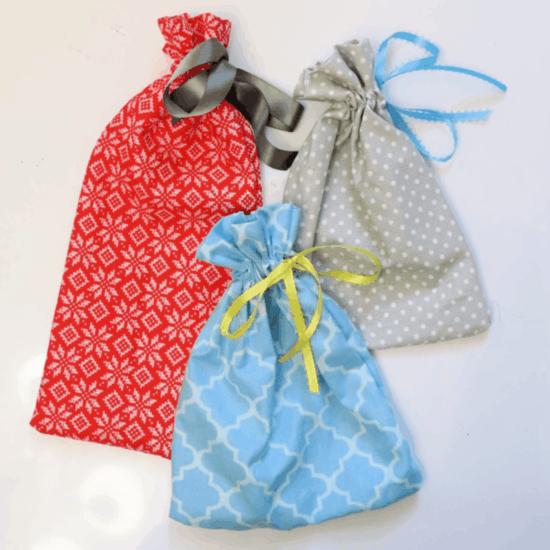 geschenktüte basteln aus stoffresten