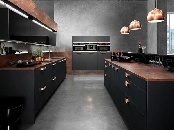 küchentrends 2021 schwarze fronten