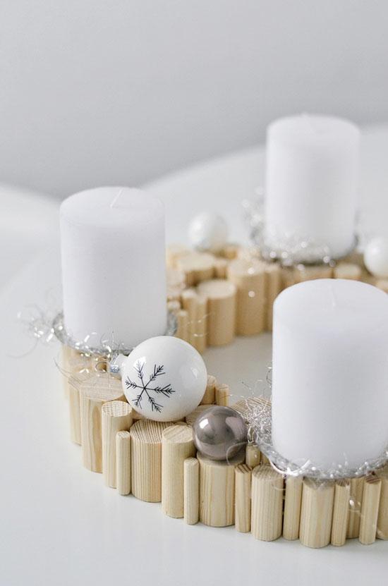 minimalistischen adventskranz basteln