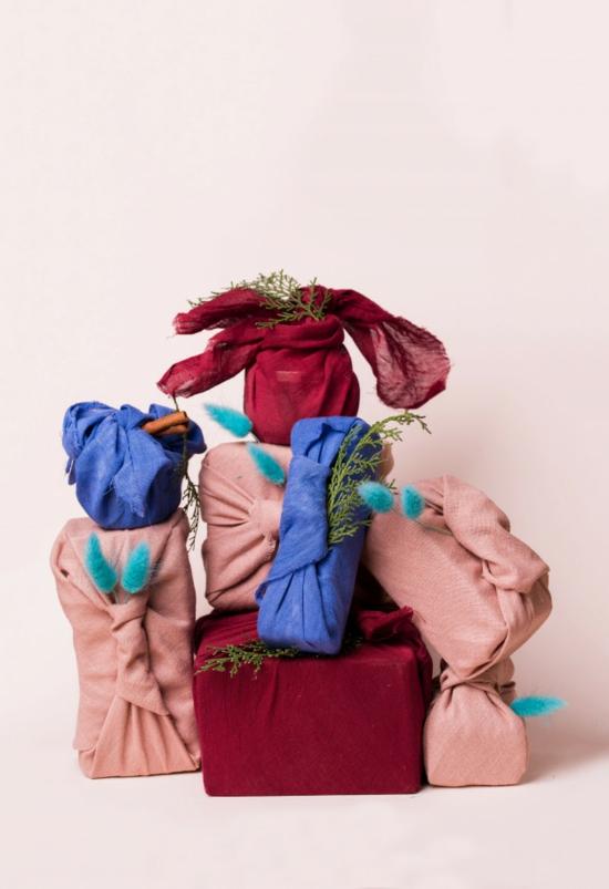 nachhaltige geschenktüte basteln furoshiki style