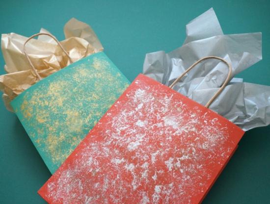originelle geschenktüte basteln gold silber