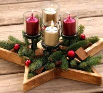 Adventskranz basteln  – 43 stilvolle DIY Ideen zum Nachmachen