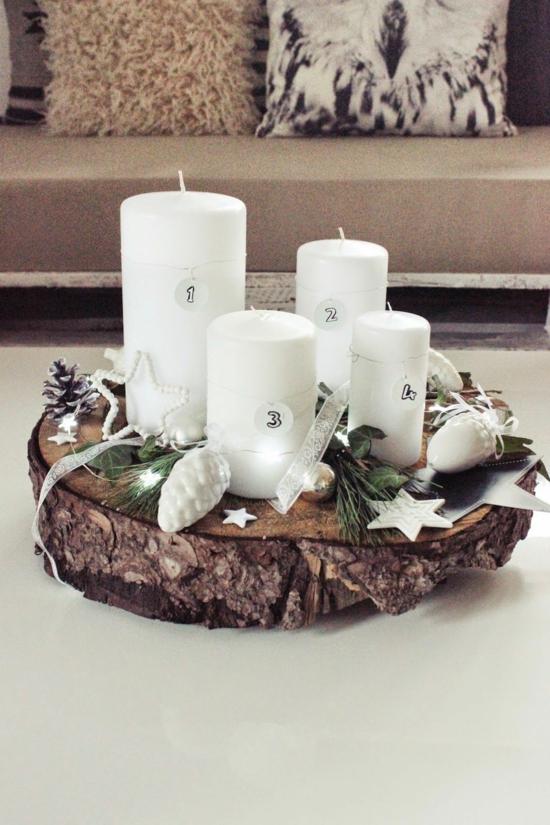 scandinavische weihnachtsdeko adventskranz basteln