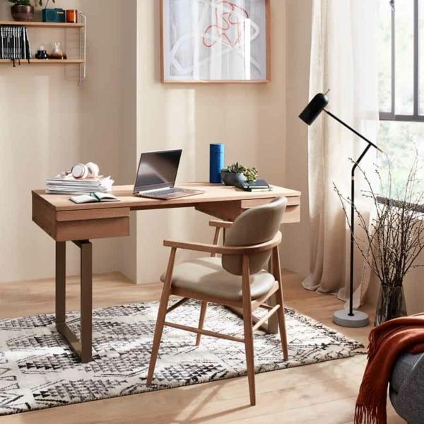 trendfarben 2021 home office einrichten sanfte beigefarben