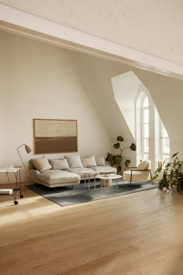 trendfarben 2021 wohnen beige farbtöne wohnzimmer