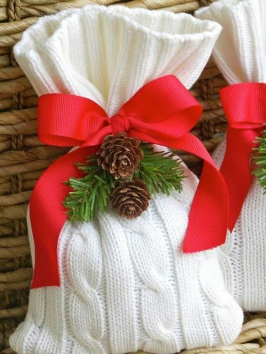upcycling geschenktüte basteln aus altem pulli