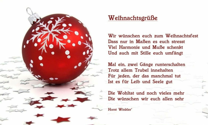 weihnachtskarte schreiben besinnliche Weihnachtssprüche familie