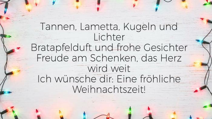 weihnachtskarte schreiben besinnliche Weihnachtssprüche lustig