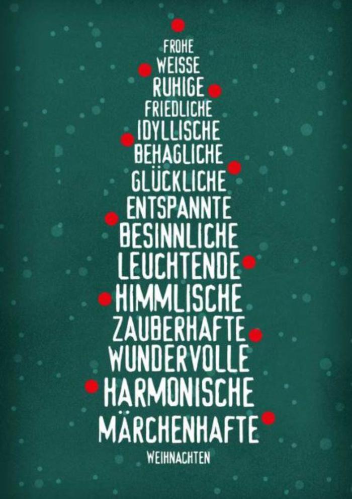 weihnachtskarte schreiben kurze Weihnachtssprüche zum nachdenken