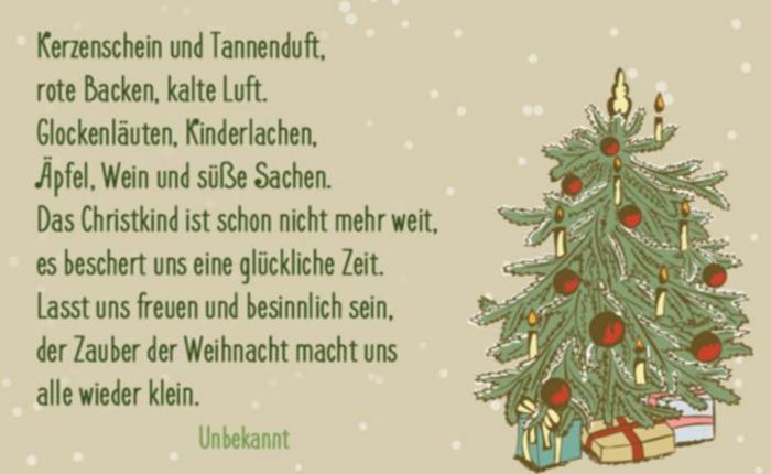 weihnachtskarte schreiben lustige Weihnachtssprüche zum nachdenken besinnlich
