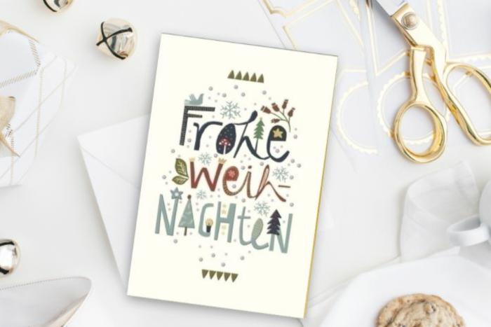 weihnachtskarte schreiben lustige Weihnachtssprüche zum nachdenken