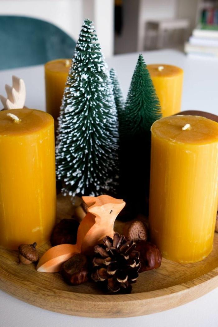 weihnachtskerzen selber machen advendsdeko selber machen