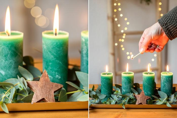 weihnachtskerzen selber machen zubehör klopapierrollen upcycling ideen