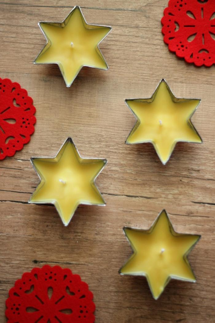 weihnachtskerzen selber machen zubehör stern