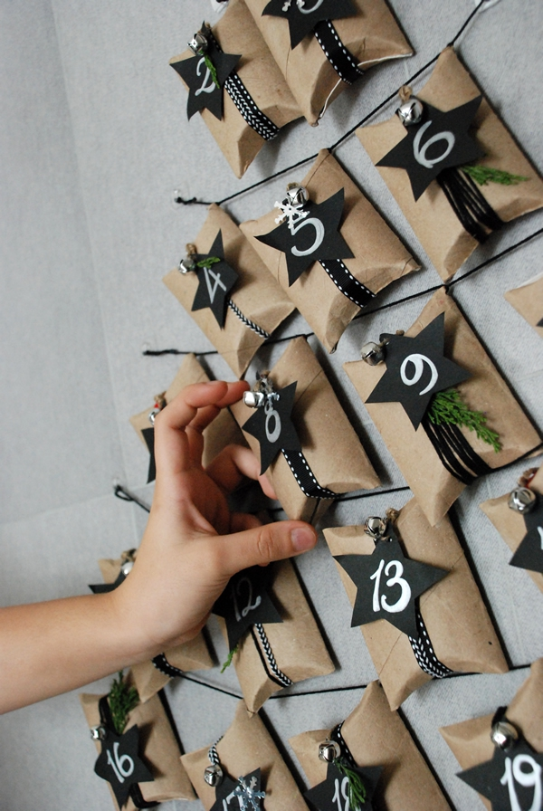 Basteln mit Toilettenpapierrollen zu Weihnachten – kreative Upcycling Ideen und Anleitung adventskalender schön originell