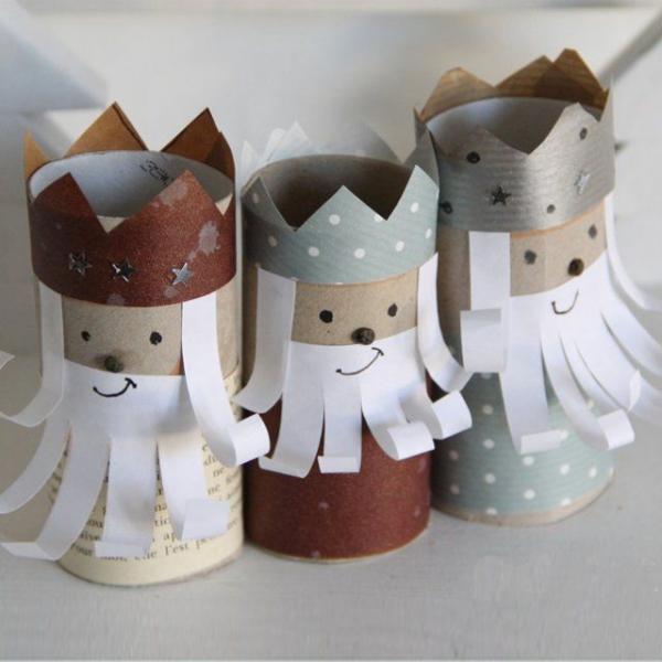 Basteln mit Toilettenpapierrollen zu Weihnachten – kreative Upcycling Ideen und Anleitung die heiligen drei könige