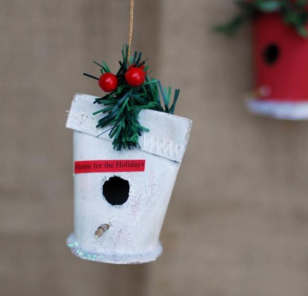 Basteln mit Toilettenpapierrollen zu Weihnachten – kreative Upcycling Ideen und Anleitung vogelhaus mini deko