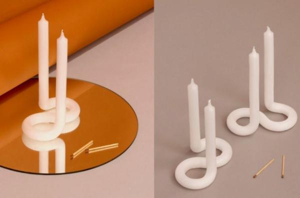 DIY gedrehte Kerzen s förmige Twisted Candles selber machen