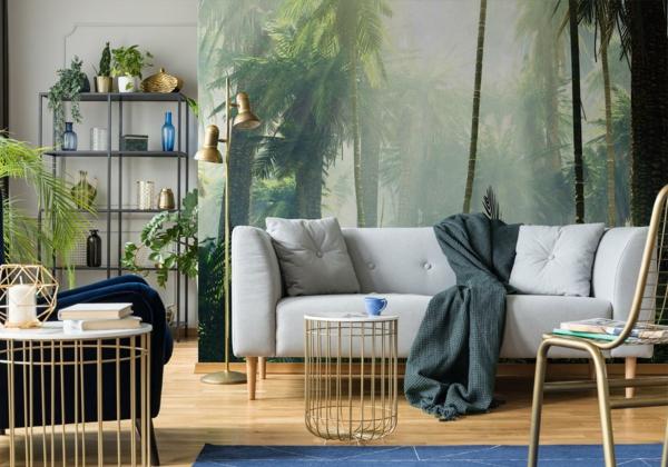 Dschungel Fototapete im Wohnzimmer