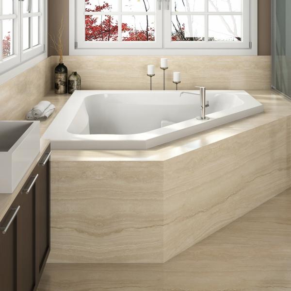 Eckbadewanne Vorteile kleines Badezimmer Eckwanne Eckbadewannen