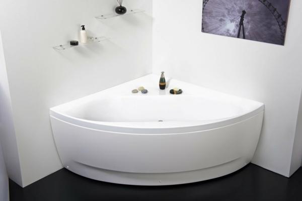 Eckbadewanne Vorteile kleines Badezimmer Eckwanne