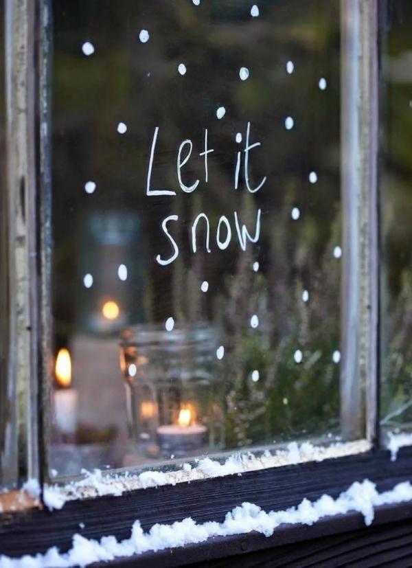 Fensterbilder basteln zu Weihnachten – zauberhafte Ideen und Anleitungen auf fenster schreiben diy einfach