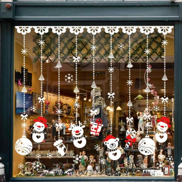 Fensterdeko zu Weihnachten Schaufenster weihnachtliche Aufkleber