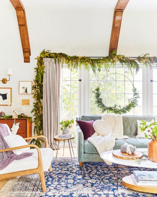 Fensterdeko zu Weihnachten Wohnzimmer Deko Ideen