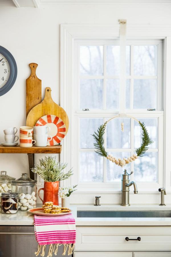 Fensterdeko zu Weihnachten kreative Ideen