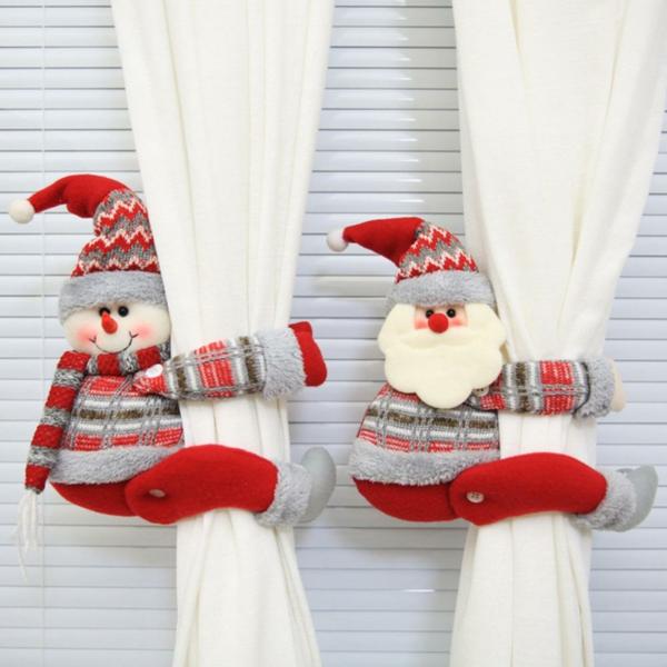 Fensterdeko zu Weihnachten weihnachtliche Gardinenringe