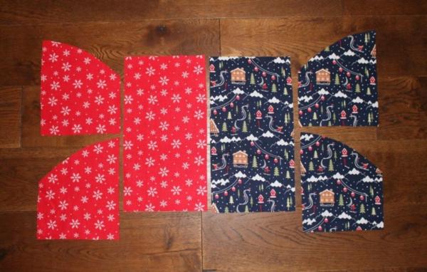 Festliche Bestecktaschen zu Weihnachten selber nähen Schritt-für-Schritt-Anleitung Schritt1