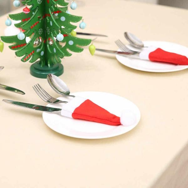 Festliche Bestecktaschen zu Weihnachten selber nähen Weihnachtshut