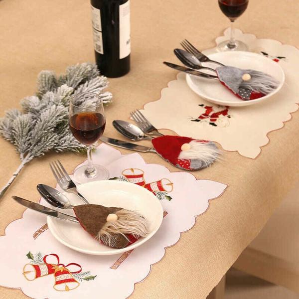 Festliche Bestecktaschen zu Weihnachten selber nähen Weihnchtsstimmung