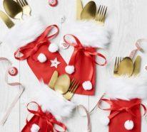 Festliche Bestecktaschen zu Weihnachten selber nähen: Schritt-für-Schritt-Anleitung