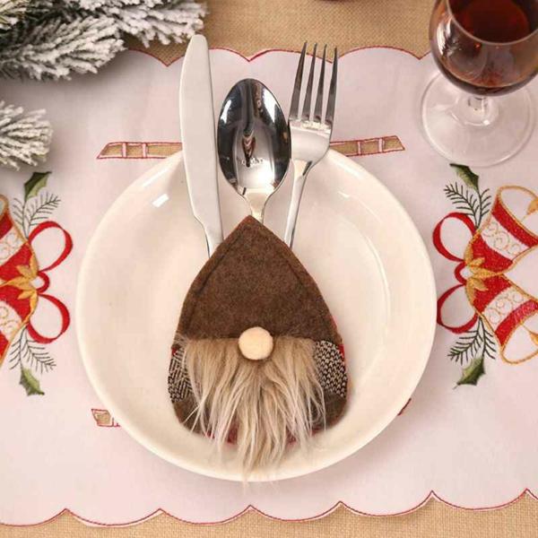 Festliche Bestecktaschen zu Weihnachten selber nähen