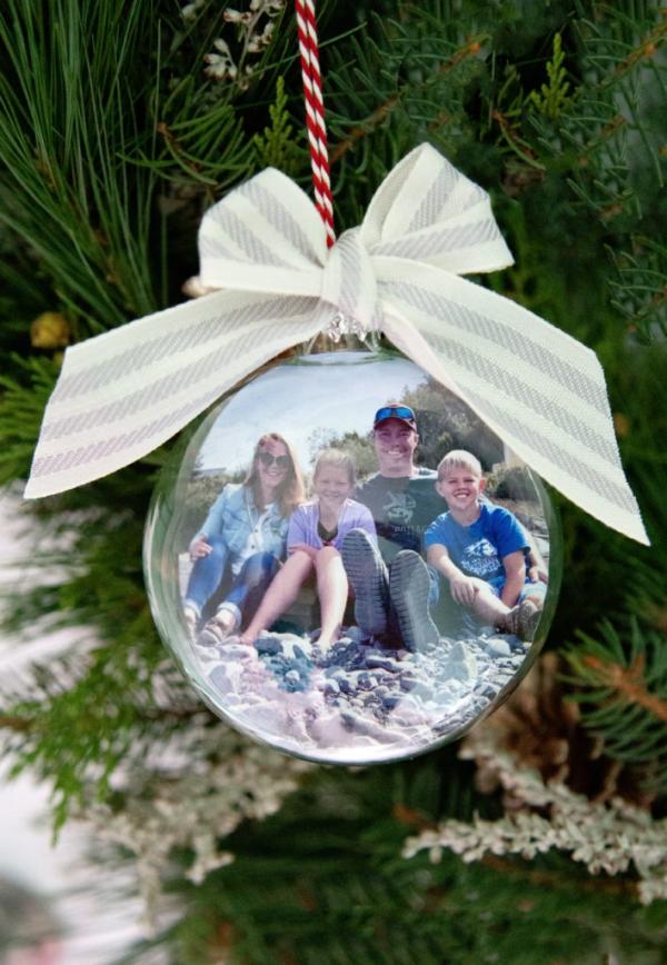 Fotogeschenke basteln zu Weihnachten – kreative Ideen und Anleitung familien fotos diy ornamente
