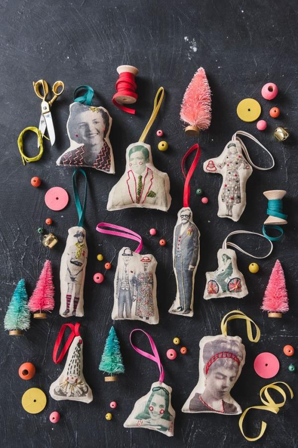 Fotogeschenke basteln zu Weihnachten – kreative Ideen und Anleitung fotos stoff übertragen verzieren