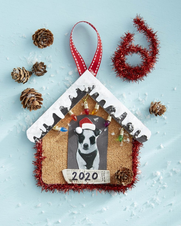 Fotogeschenke basteln zu Weihnachten – kreative Ideen und Anleitung haustier hund ornament tannenbaum