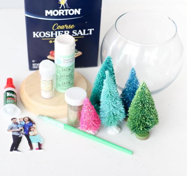 Fotogeschenke basteln zu Weihnachten – kreative Ideen und Anleitung schneekugel anleitung materialien