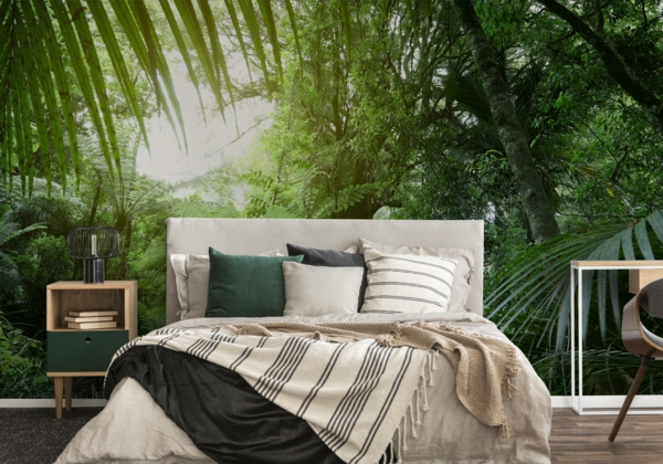 Fototapete mit Dschungel im Schlafzimmer