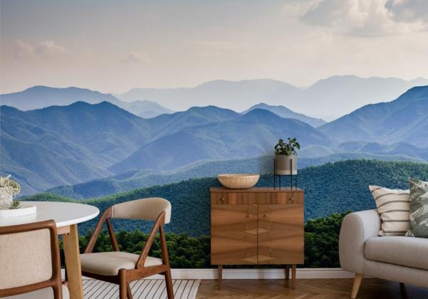 Gebirge Fototapete im Wohnzimmer