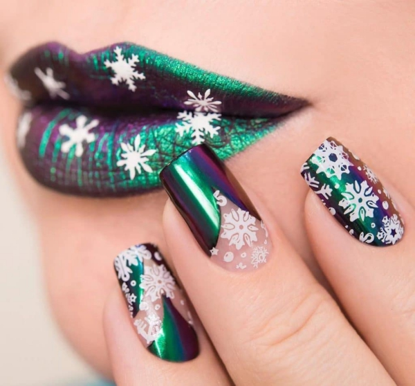 Gelnägel zu Weihnachten – hübsche Ideen und aktuelle Farbtrends chrom nägel winter aktuell