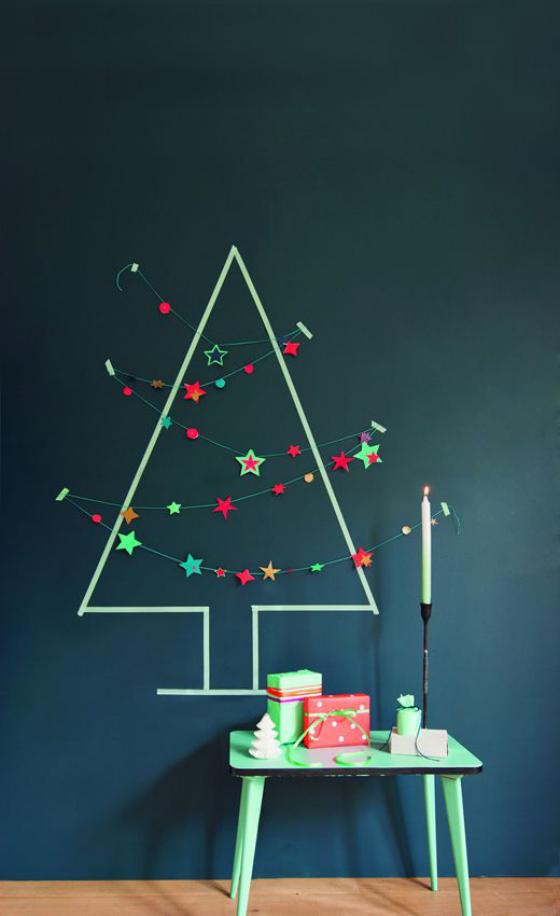 Kinderzimmer weihnachtlich dekorieren puristische Dekoration weniger ist mehr ideen