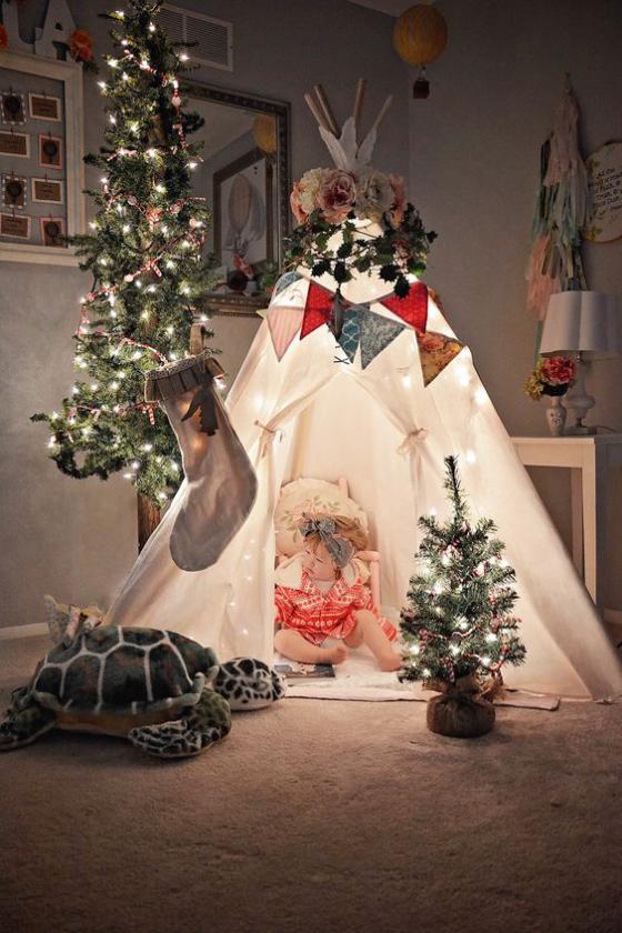 Kinderzimmer weihnachtlich dekorieren
