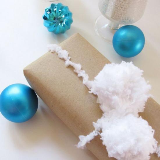 Schneebälle Winterdekoration so schön verpacktes Weihnachtsgeschenk großen Überraschungseffekt erzielen.