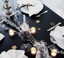 Silvester feiern –glamouröse Tischarrangements für das Neujahr