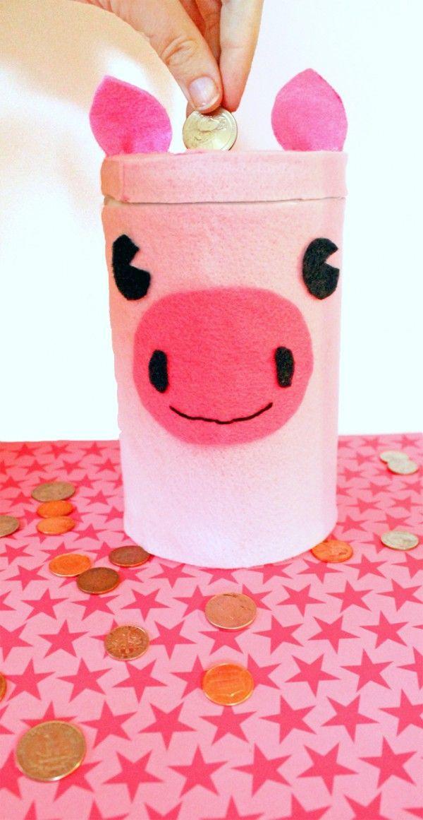 Sparschwein basteln – So haben Sie zu Silvester bestimmt Schwein aludose diy spardose
