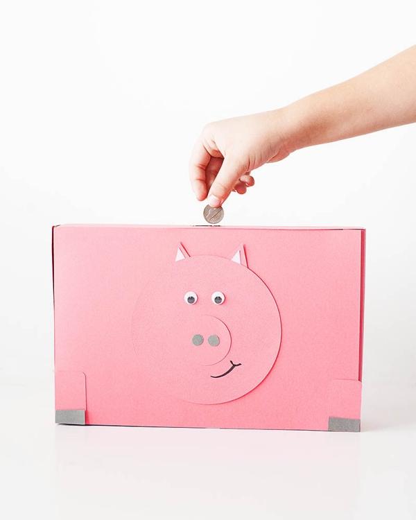 Sparschwein basteln – So haben Sie zu Silvester bestimmt Schwein cornflakes schachtel box einfach