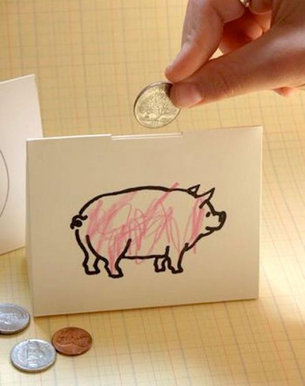 Sparschwein basteln – So haben Sie zu Silvester bestimmt Schwein papier schweinchen spardose einfach